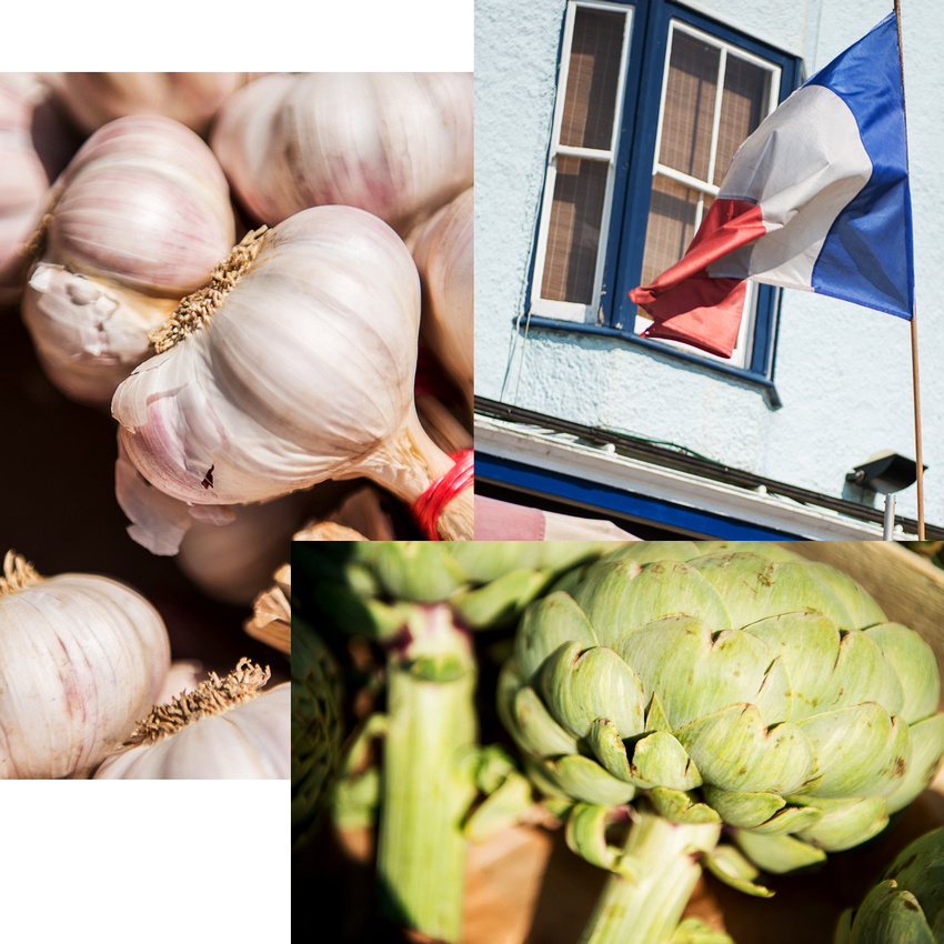Flying the French flag for garlic and artichokes, Shoreham