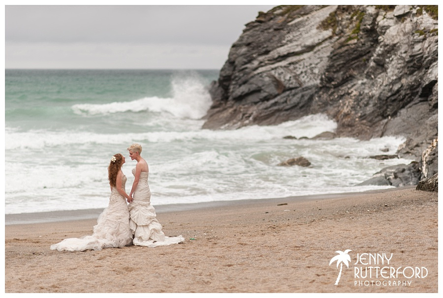 Weddings at Lusty Glaze Beach, Cornwall