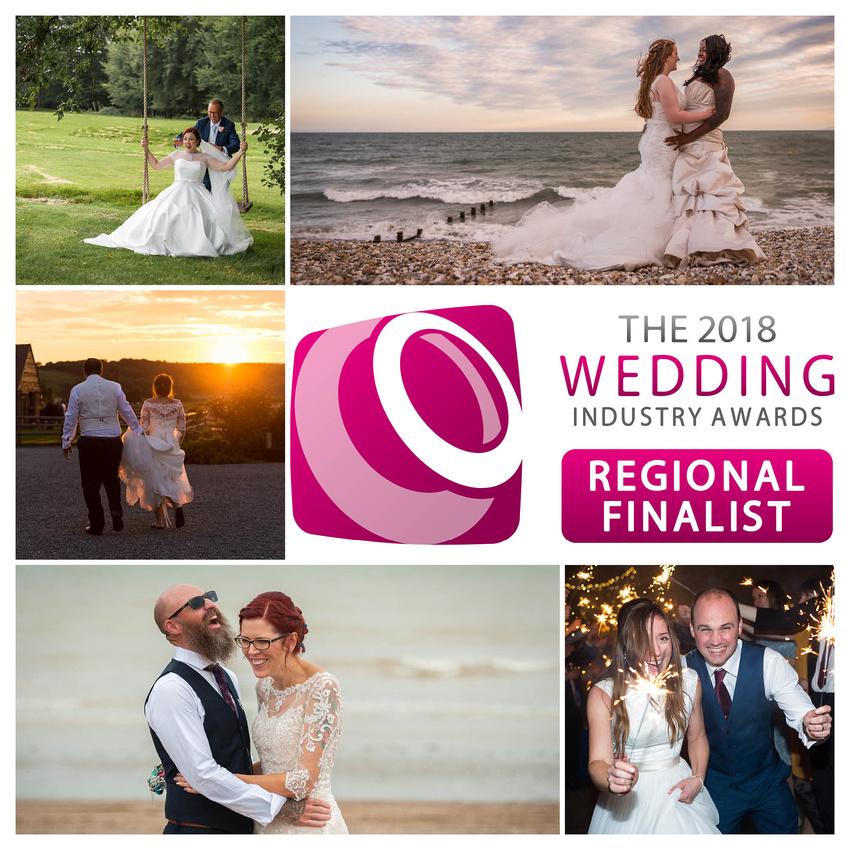 Award winning Sussex photographer achieves Regional Finalist in the 2018 Wedding Industry Awards (TWIA)