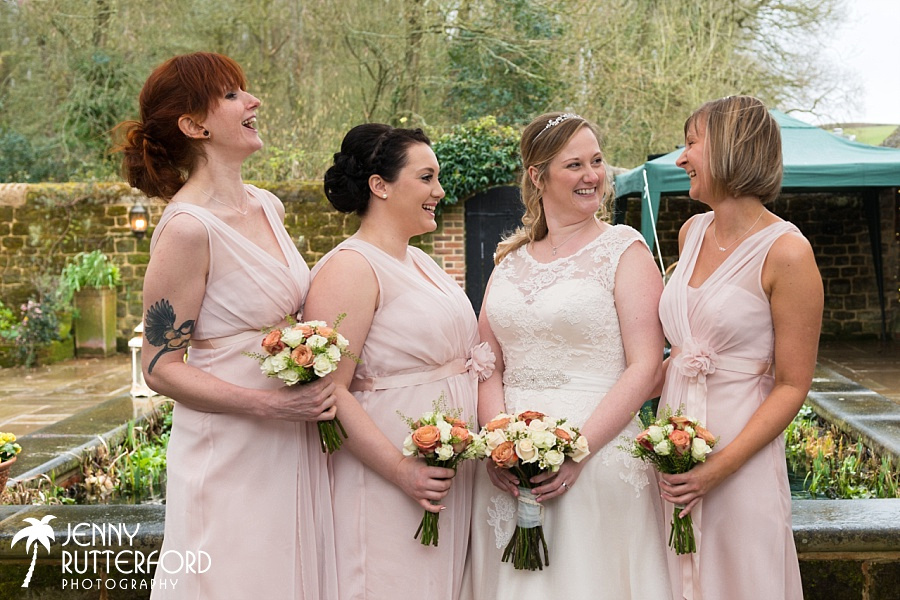 Bartholomew Barn Wedding:  Bridesmaids