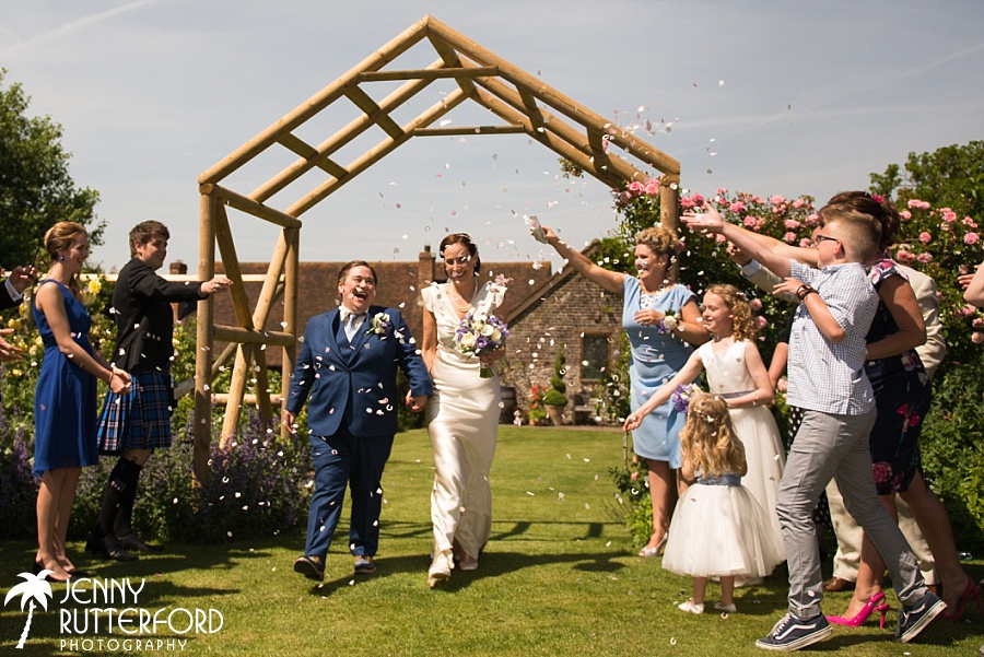 Pangdean Barn candid and natural Wedding Photography
