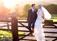 Blackstock Farm Wedding at sunset