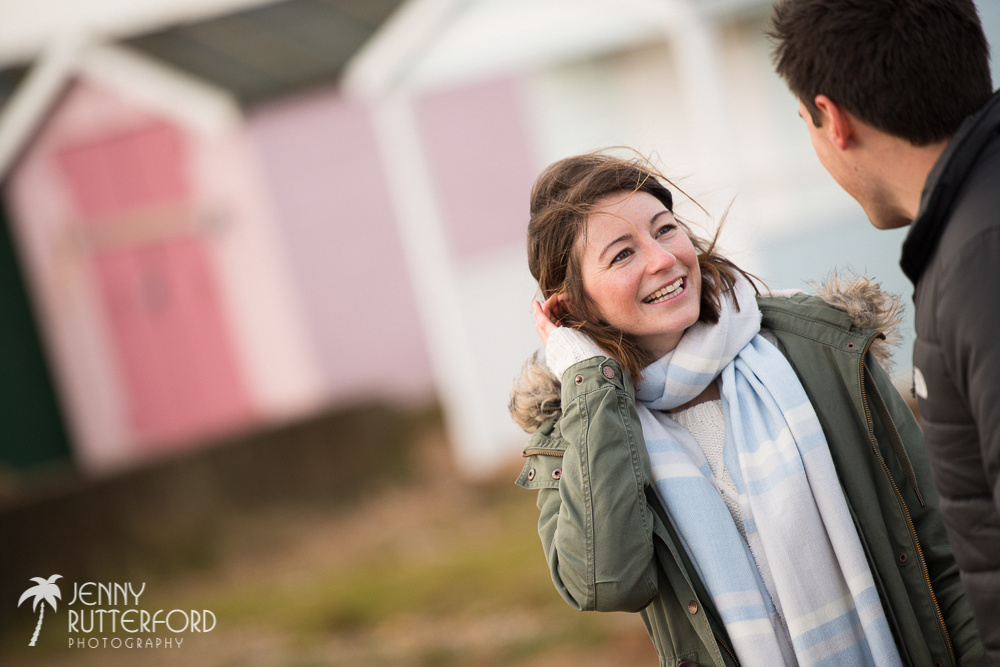 Pre-wedding shoot on Shoreham Beach by Sussex Wedding Photographer, Jenny Rutterford Photography